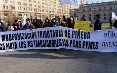 Contundente Paro Nacional en defensa de la equidad tributaria, en defensa del SII y sus funcionarios/as