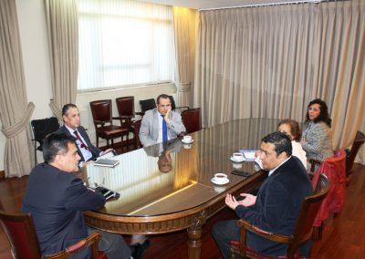 Directorio Nacional en reunión protocolar con Director SII