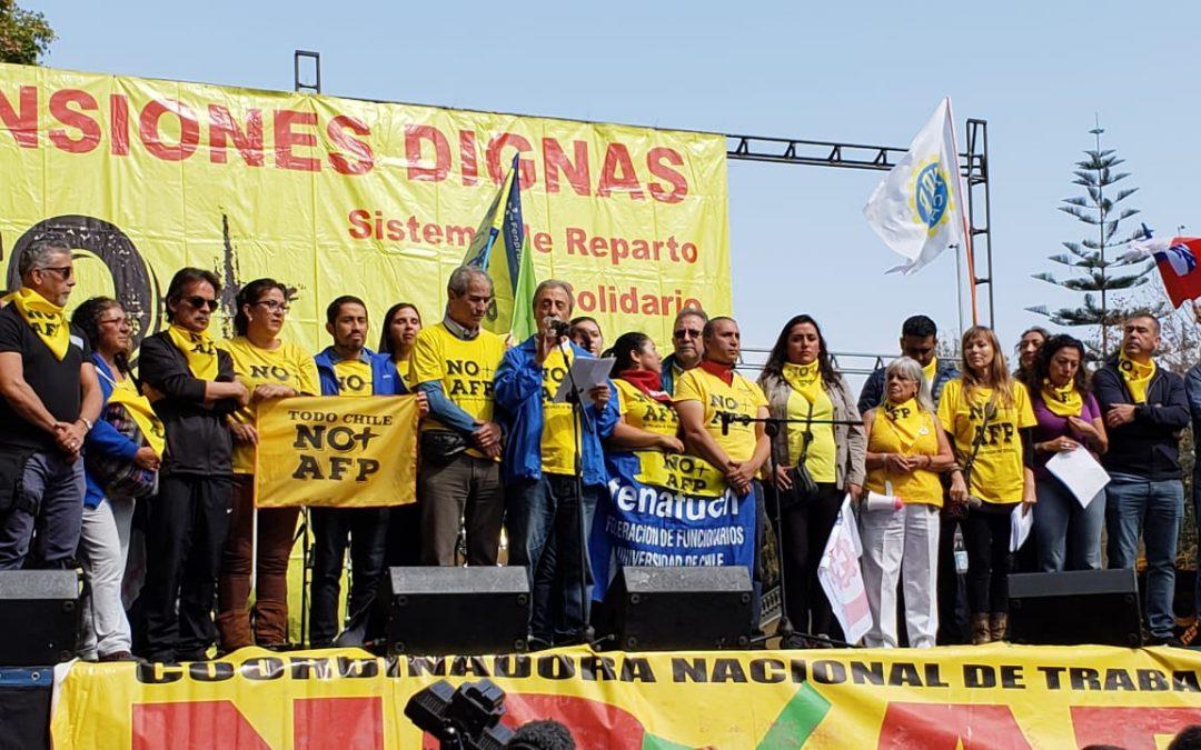 ANEIICH se hizo presente en una nueva movilización nacional por NO+AFP