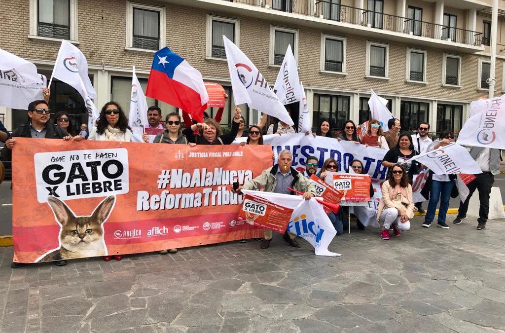 Trabajadores del SII de Maipú y Melipilla envían saludo a trabajadores de Antofagasta