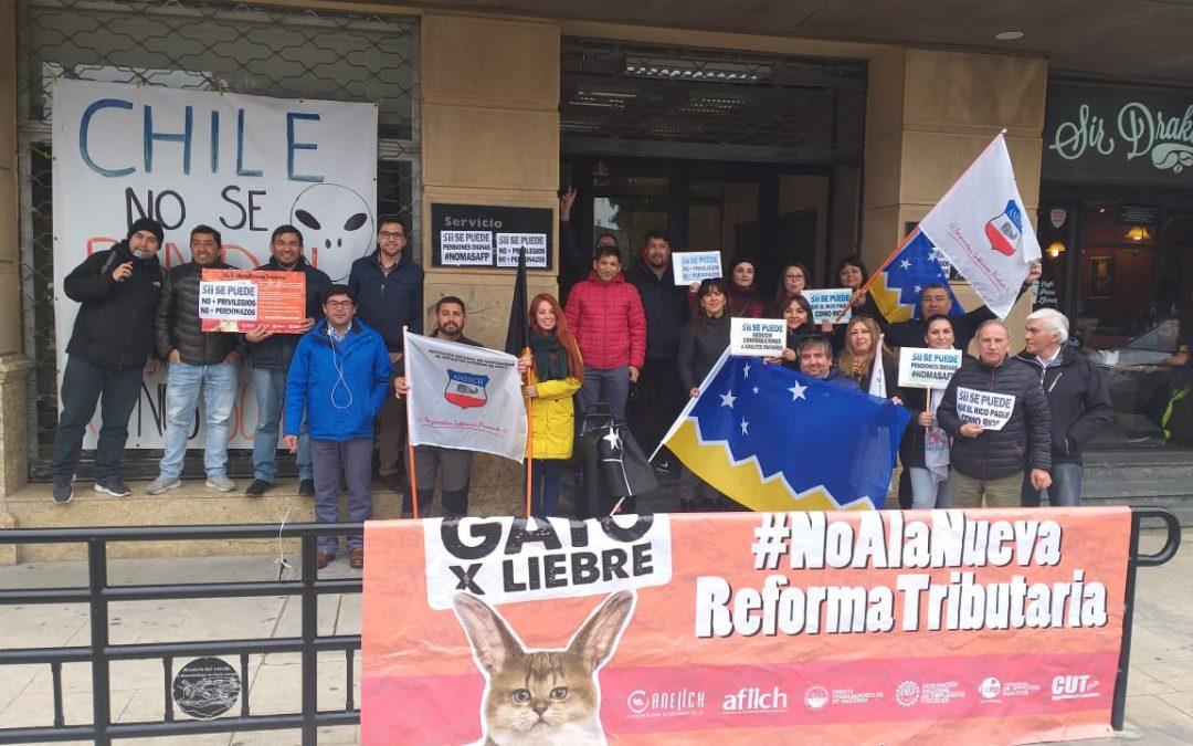 ANEIICH se hace presente en jornada de movilización a lo largo del país y exige salida del Director Barraza
