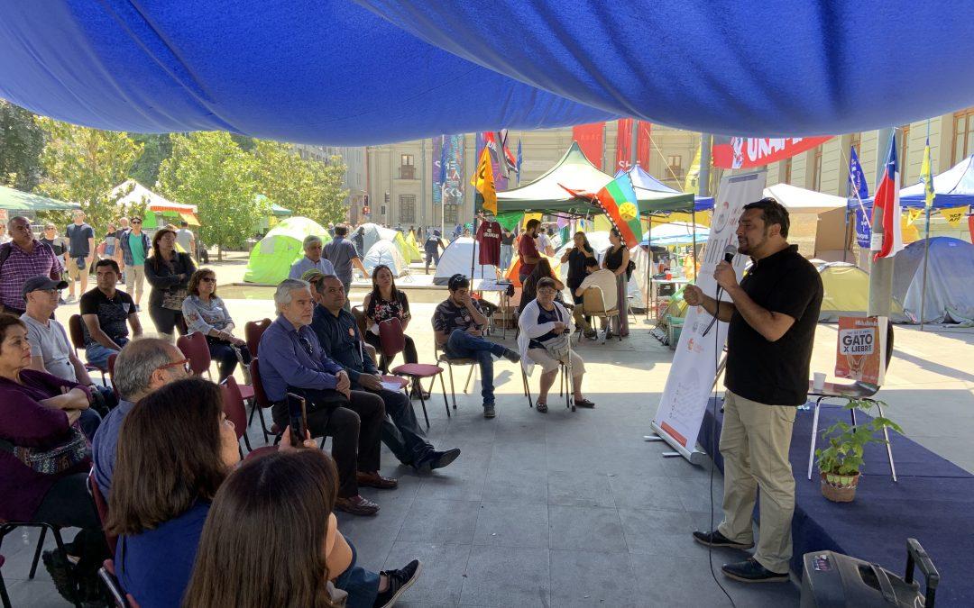 ANEIICH presenta su propuesta de un nuevo Pacto Social con Justicia Tributaria en el Campamento Dignidad