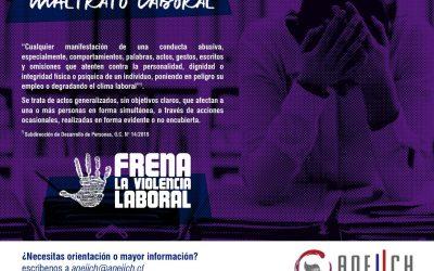ANEIICH lanza campaña de erradicación de la violencia en los puestos de trabajo