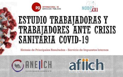Estudio conjunto ANEIICH, AFIICH, Fundación Nodo XXI e ISP: Trabajadores y trabajadoras ante crisis sanitaria Covid-19
