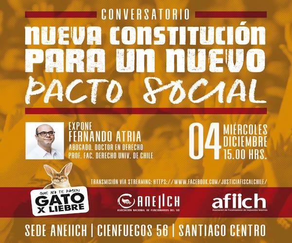 ANEIICH organiza conversatorio sobre nueva constitución con el abogado Fernando Atria