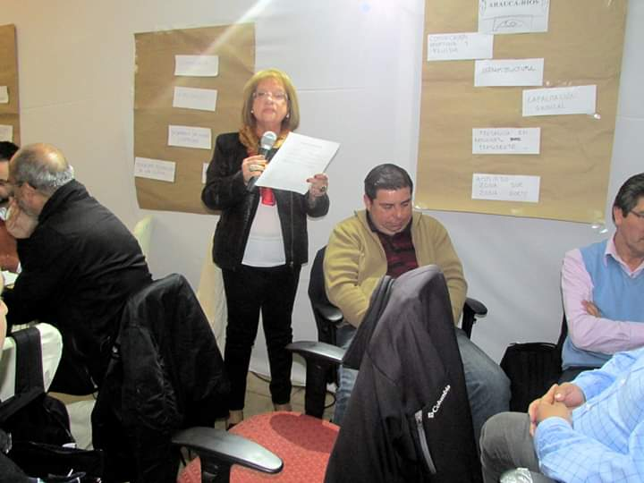 La Directiva Nacional de ANEIICH informa el sensible fallecimiento de nuestra ex socia jubilada y ex Dirigente Regional de Temuco Sra. María Liliana Bustos Hernández