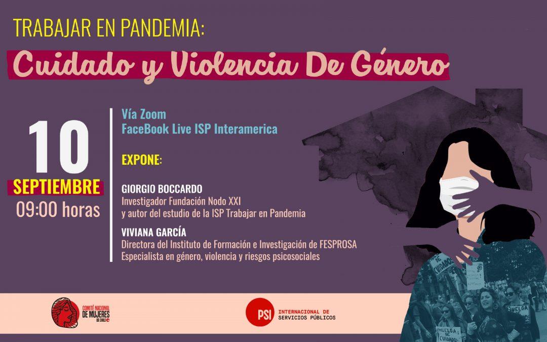 """Webinar de la Internacional de Servicios Públicos: """"Tras la pandemia y el desempeño laboral es urgente la creación de un Sistema Nacional de Cuidados en Chile"""""""