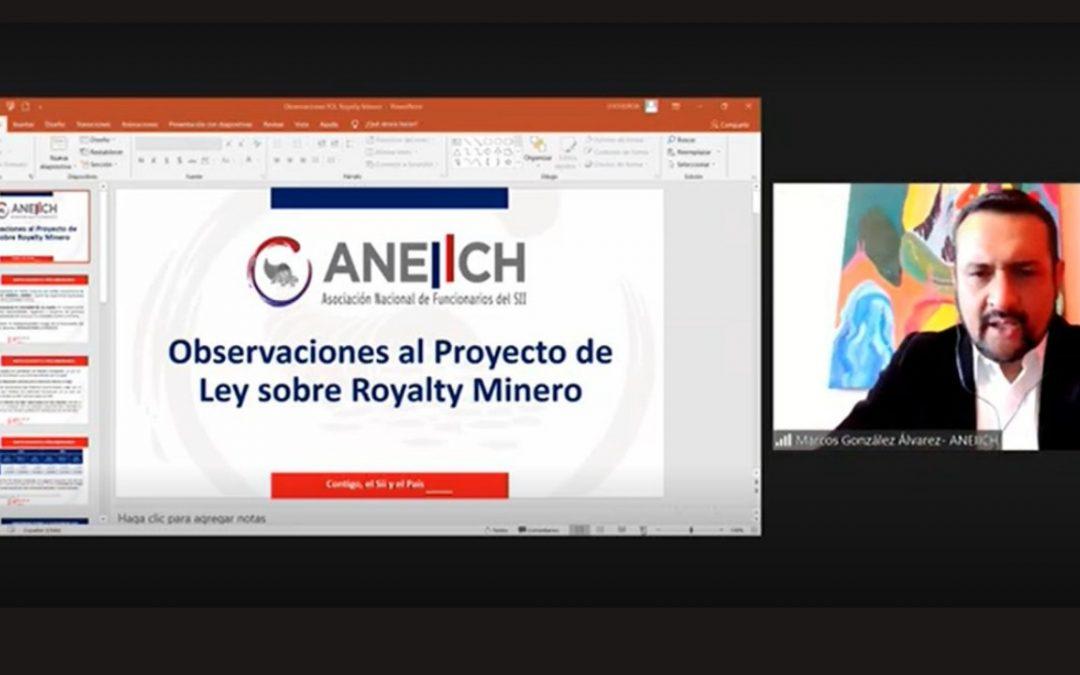 Presidente de Aneiich presentó observaciones al proyecto de Royalty Minero en Comisión de Minería del Senado
